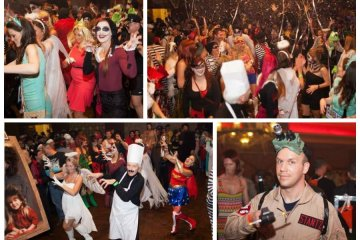 Collage of photos from facebook.com/HalloweenCharityBall