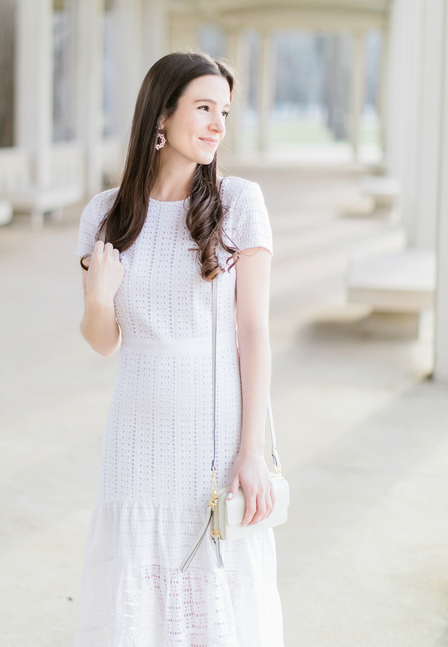 Peaceably Easter Brunch Outfit Banana Republic Let Midi Dress Bysourn Fashion Blogger Stephanie Easter Brunch Outfit Banana Republic Let Midi Dress wedding dress Banana Republic Dresses