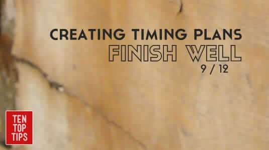 9 creating timing plans - finish well.fw