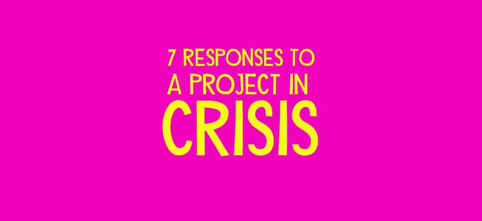 7 Responses to a project in crisis