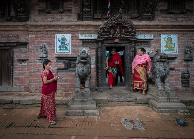 Morning Puja in Bhaktapur, Nepal.f/4, 1/110 sec, at 14mm, 200 ISO, on a X-Pro1