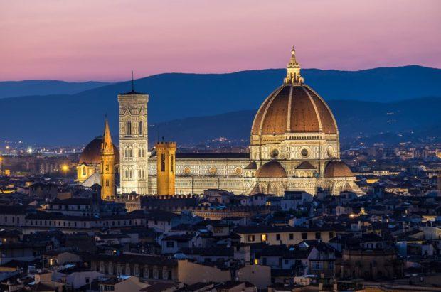 Basilica di Santa Maria del Fiore or Il Duomo di Firenze.