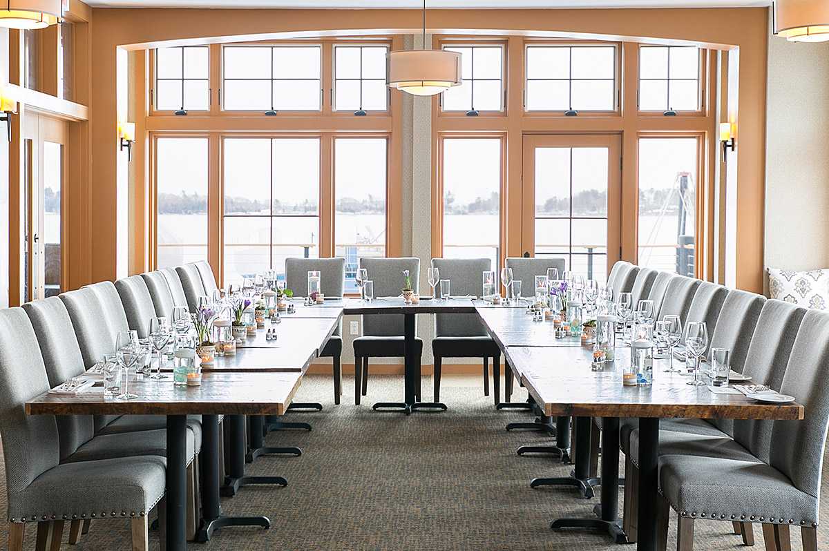 Classy To Host Your Rehearsal Horseshoe Layout Is Forcelebrating A Occasion So Everyone Can Face Each Or Whileoffering Toasts To Casco Bay Room Dockside Grill inspiration Rehearsal Dinner Toasts