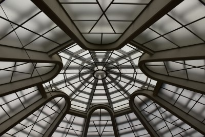 Close-up of the skylight ceiling (photo by David).