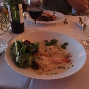 My very delicious lobster ravioli.