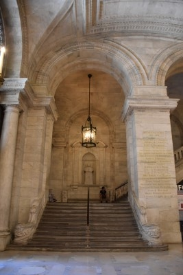 Stairs leading to the upper floors of NYPL (photo by David).