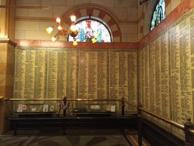Nine thousand Civil War Veterans' names are carved on the interior walls of the museum.