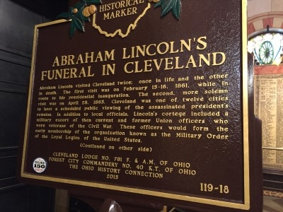 Union state Ohio honors Lincoln.