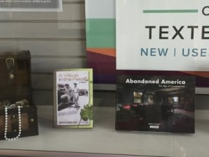 Bookstore display of C.H.A.P. authors.