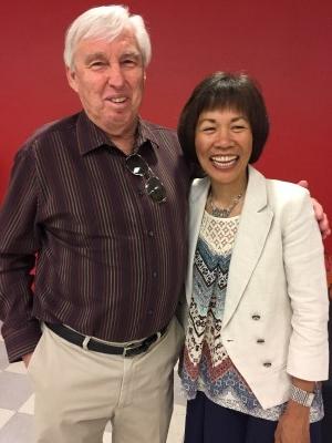 My high school history teacher, Mr. Land, and me (courtesy of Joy).