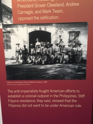 The bigger picture of the U.S. moving into the Philippines as colonizer.