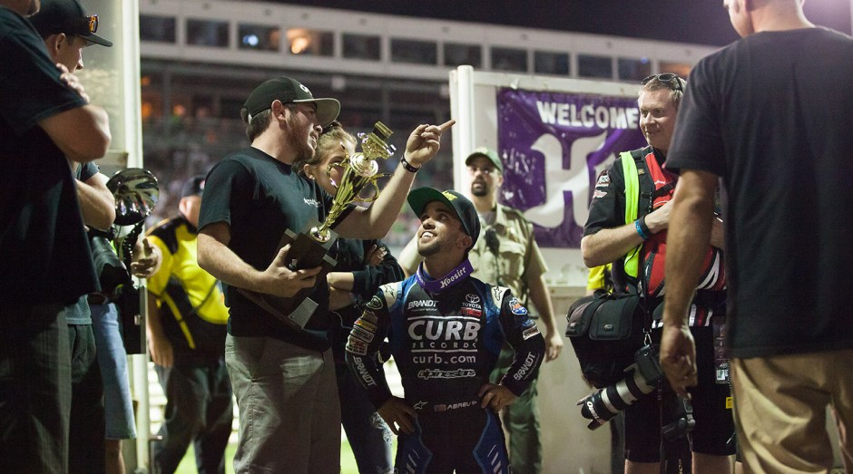 Rico Abreu wins the A Main on night 3 of The 2016 Knoxville Nationals