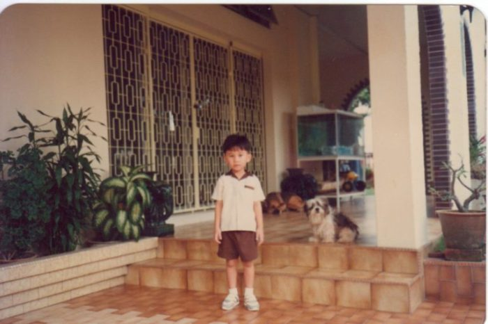Young Junwen at Ah Ma's house.