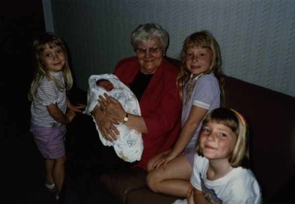 Grandma and her girls at Sarah's birth.