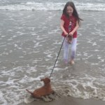 His first trip to the Ocean