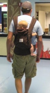 Baby wearing daddy