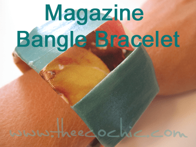Magazine Bangle Bracelet #freefromtrash