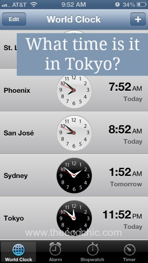 iPhone 5 World Clock