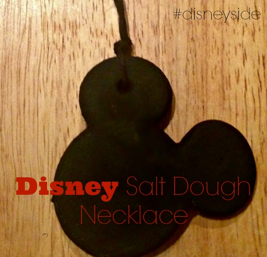 DIY Disney Salt Dough Necklace #disneyside