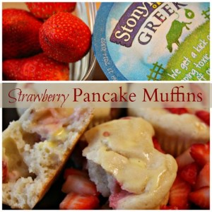 Stonyfield Strawberry Pancake Muffins