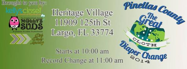 Pinellas County Great cloth Diaper Change Event