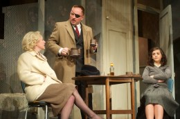 Lucy Black as Helen, Keith Fleming as Peter and Rebecca Ryan as Jo
