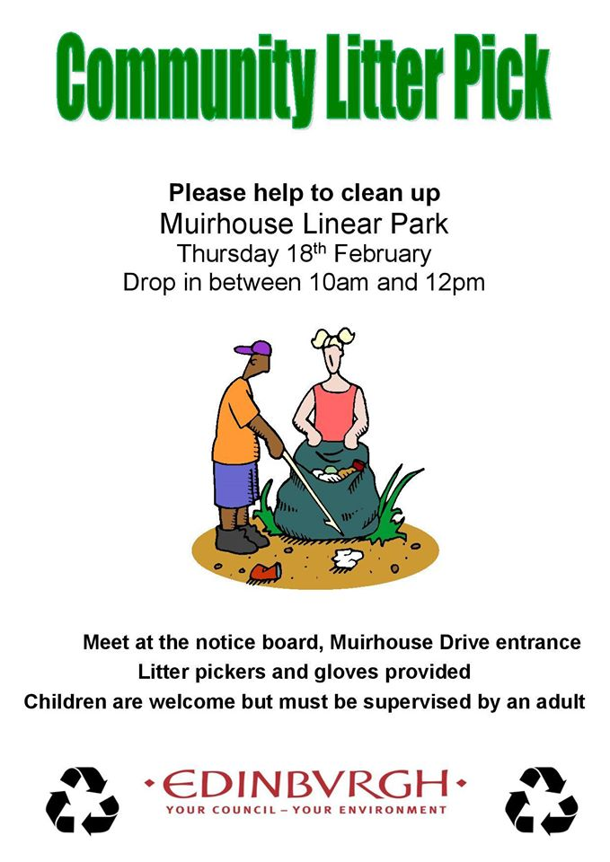 muirhouse community litter pick up feb 2016