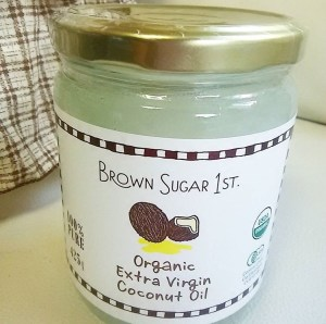 Organic coconut oil helps make your hair healthier and also de-frizz your hair.
