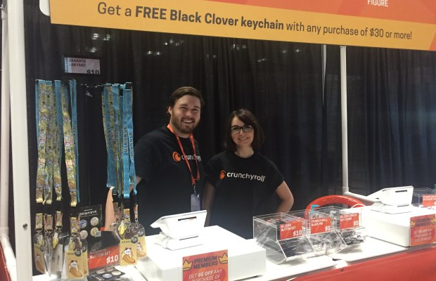 Crunchyroll supported the convention as well as had their own vendor both near the entrance to Anime NYC.