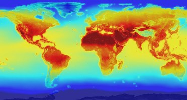 A map of the global temperature of countries around the world. Credit: NASA