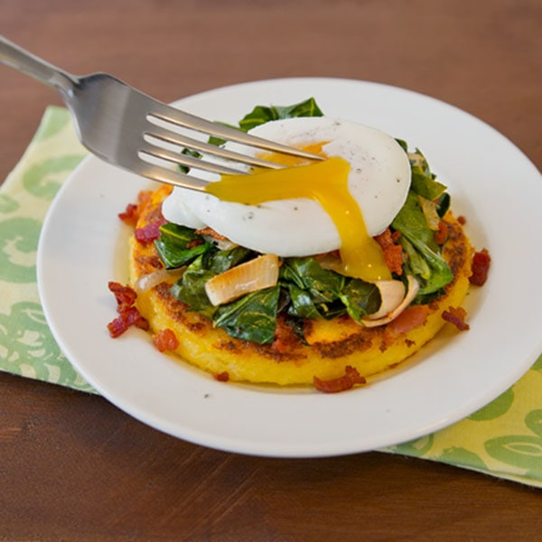 Polenta with Collard Greens and Poached Egg – the Egg Farm