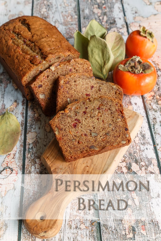 ... my adulterated version of James Beard's recipe for persimmon bread