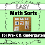 Easy Math Sorts for Pre-K & K