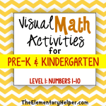 Visual Math Activities for Pre-K & Kinder