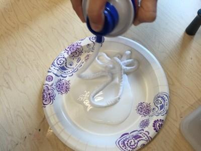 Car craft adding shaving cream