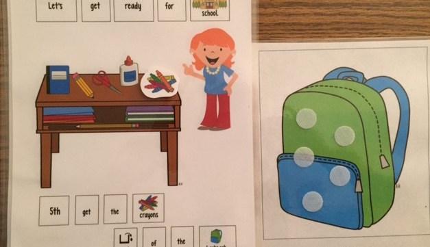 School Supply Adapted Books!