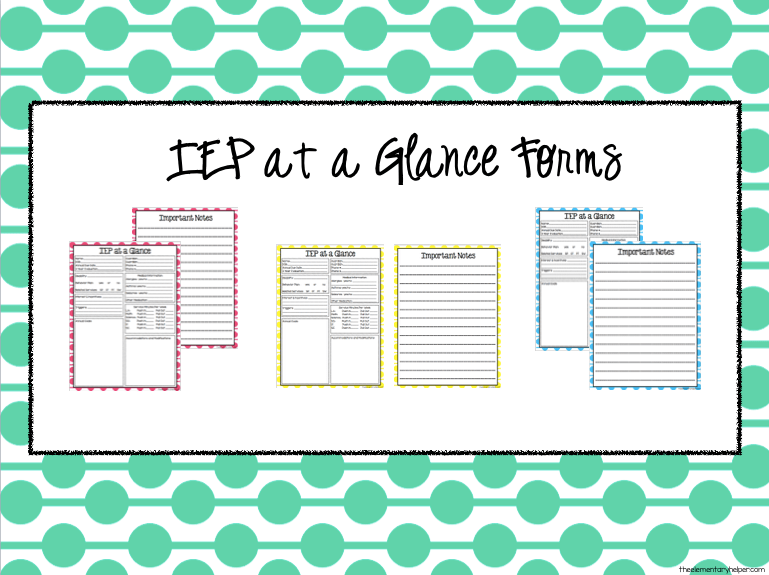Organizing IEP Information {PLUS a FREEBIE}