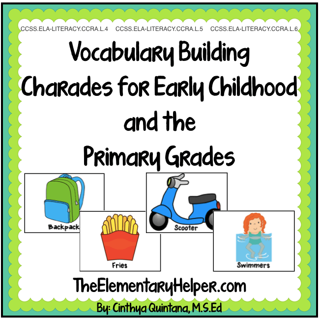 Charades for Vocabulary Building