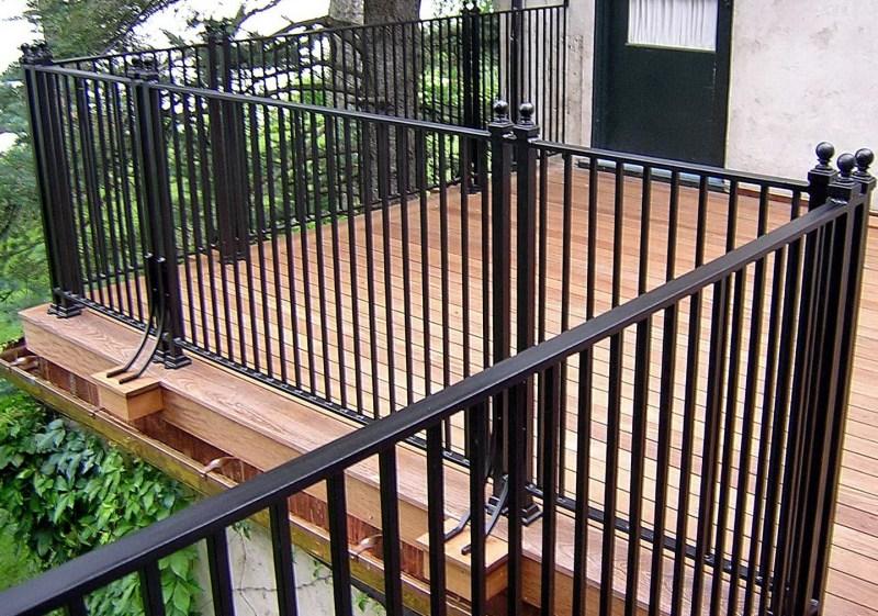 Large Of Metal Deck Railing