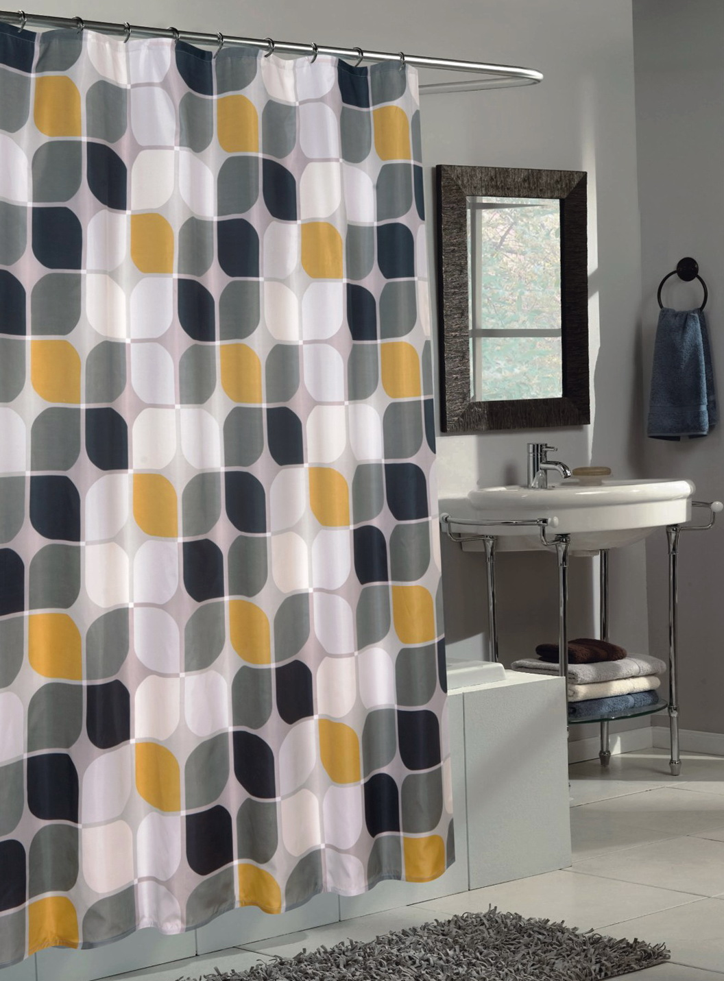 Fullsize Of Yellow Shower Curtain