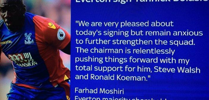 Transfer window a massive wake up call to Farhad Moshiri's new era