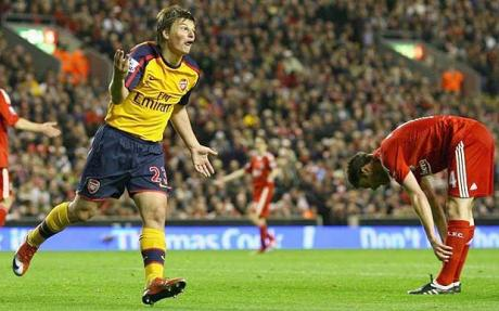 Four shots, four goals - Arshavin at Anfield, April 2009