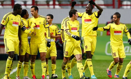 'The Wild Division': Anzhi celebrate Traore's goal against Liverpool