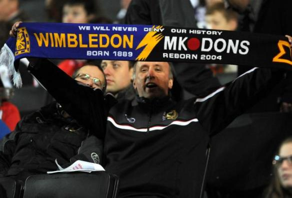 One of the new breed: An MK Dons fan confronts his club's controversial history