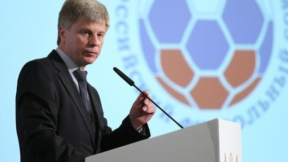 Swinging the axe: Russian Football Union president, Nikolai Tolstykh