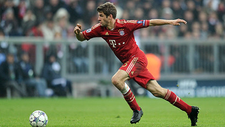Fussball CHL  Saison 2011/2012: Thomas Mueller (FC Bayern Muenchen)
