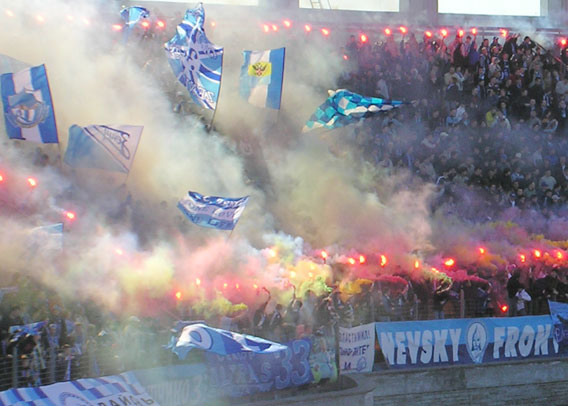 The behaviour and culture of Russian football fans can put off would-be spectators