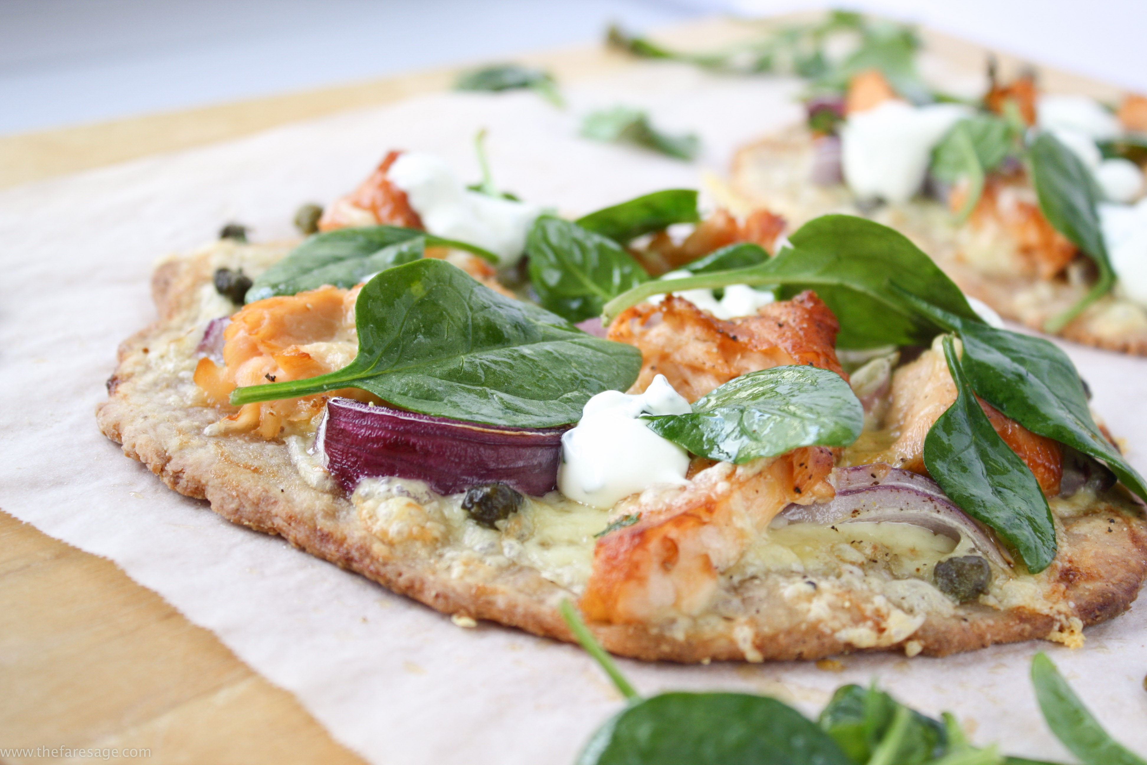Engaging Flatbread Smoked Salmon Smoked Salmon Capers Capers Capers Flatbread Capers Fare Sage Salmon Rosemary Foil Salmon nice food Salmon With Capers
