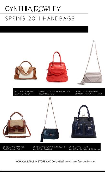 Cynthia Rowley Spring 2011 Handbags