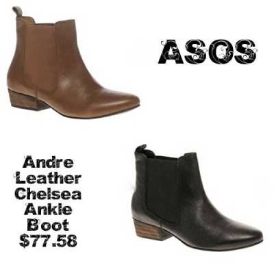 asos andre leather chelsea boot